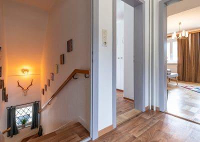 """Treppe / Einsicht in's """"Zinken""""-Zimmer"""